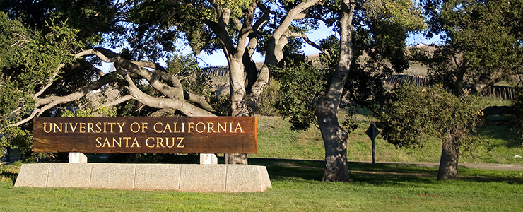 UC Santa Cruz Main Entrance Sign